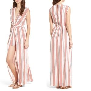 EVERLY Twist Front Maxi Romper Size Small